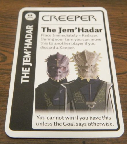 Creeper Card in Star Trek Deep Space Nine Fluxx