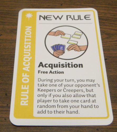 New Rule Card in Star Trek Deep Space Nine Fluxx