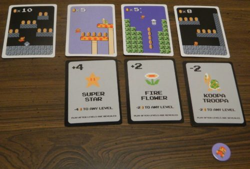 End of Round in Super Mario Bros Power Up Card Game