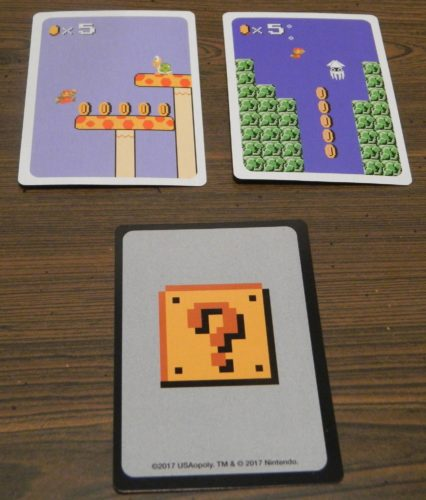 Matching Cards in Super Mario Bros. Power Up Card Game