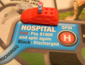 Hospital Space in Game of Life: Extreme Reality