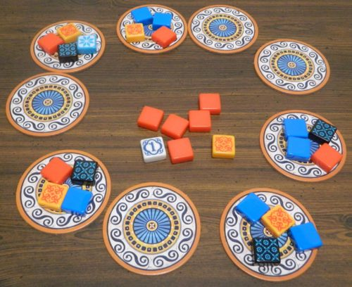 Grabbing Tiles From the Center in Azul