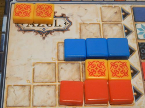Grabbed Tiles in Azul