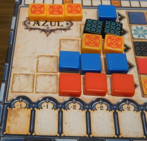 Tiles On Floor in Azul