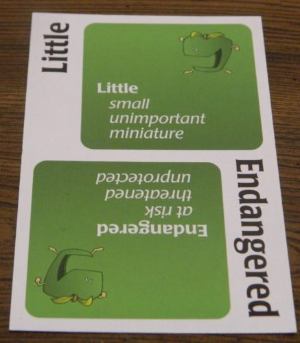 Green Apple Card in Big Picture Apples to Apples