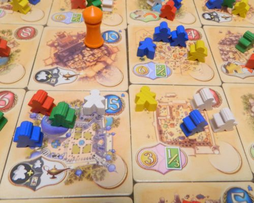 Moving Meeples in Five Tribes