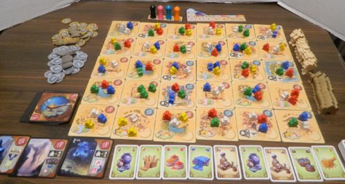 Setup for Five Tribes