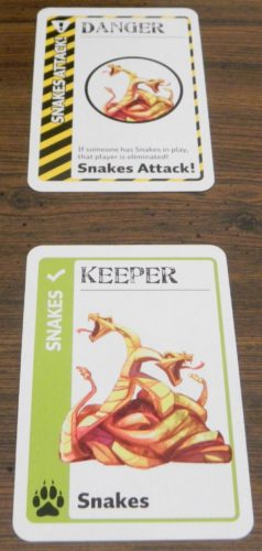 Danger Card Example in Jumanji Fluxx