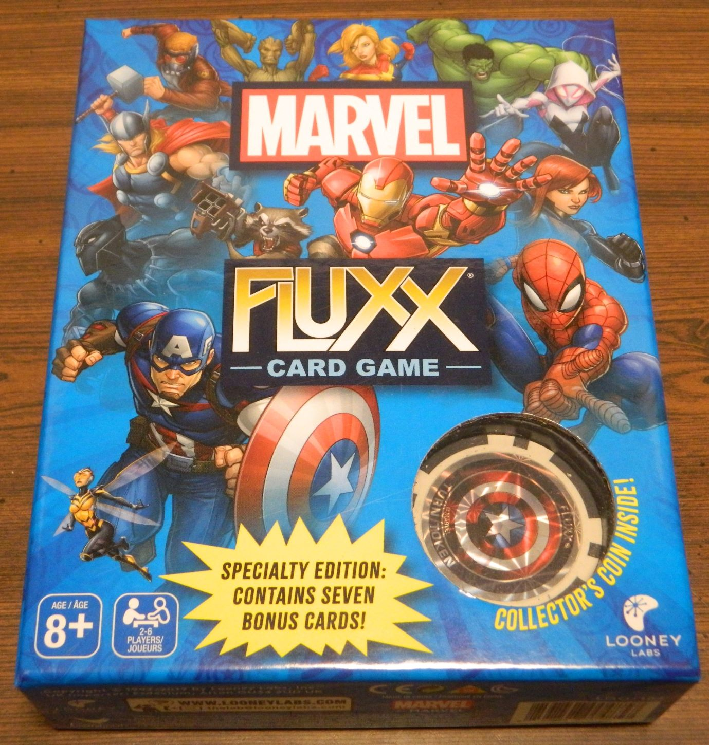 Box for Marvel Fluxx