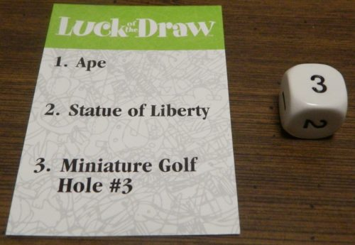 Subject in Luck of the Draw