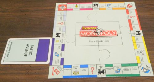 Play Card in Express Monopoly Card Game