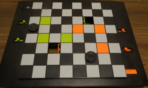 Winning Trapdoor Checkers