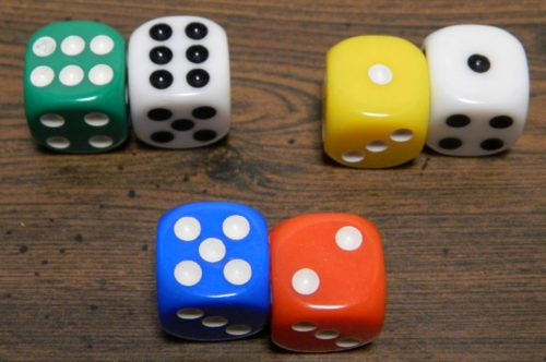 Color Dice Number in Qwixx