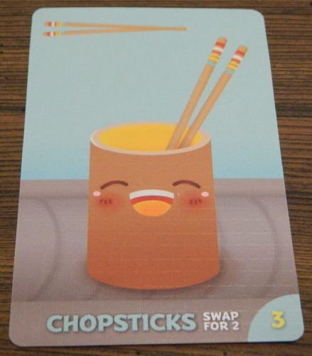 Chopsticks Card in Sushi Go Party!