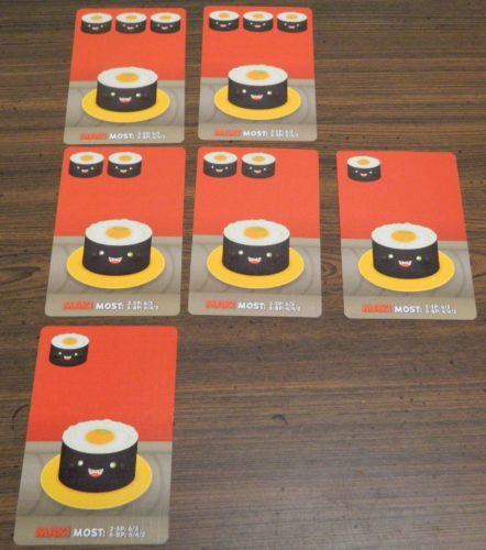 Maki Rolls Example in Sushi Go Party!