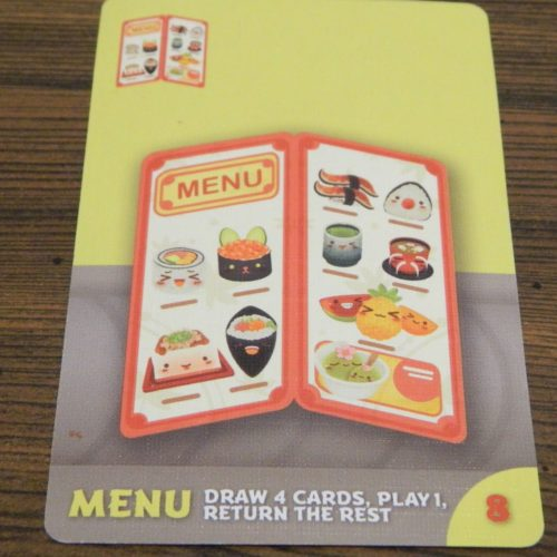 Menu Card in Sushi Go Party!