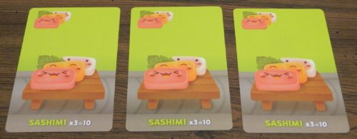 Sashimi Example in Sushi Go Party!