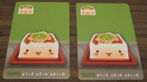 Tofu Cards in Sushi Go Party!