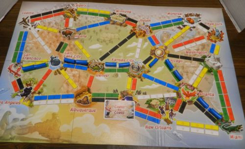 Coast to Coast in Ticket to Ride First Journey