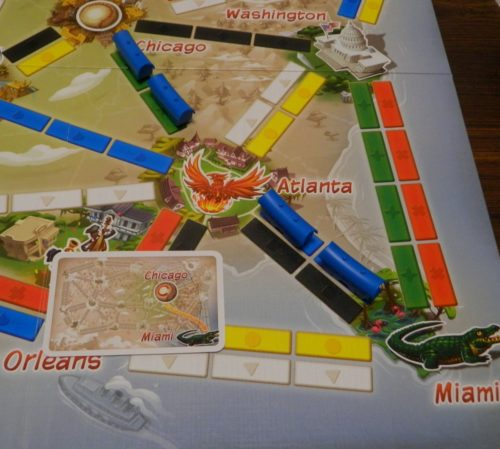 Completed Ticket in Ticket to Ride First Journey