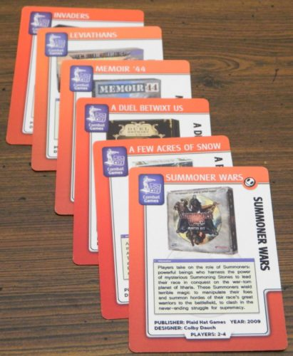 Scoring Played Games in BoardGameGeek The Card Game