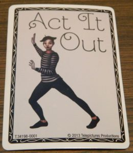 Act It Out Card in Heads Up!