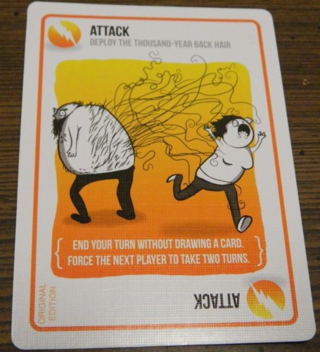Attack Card in Exploding Kittens
