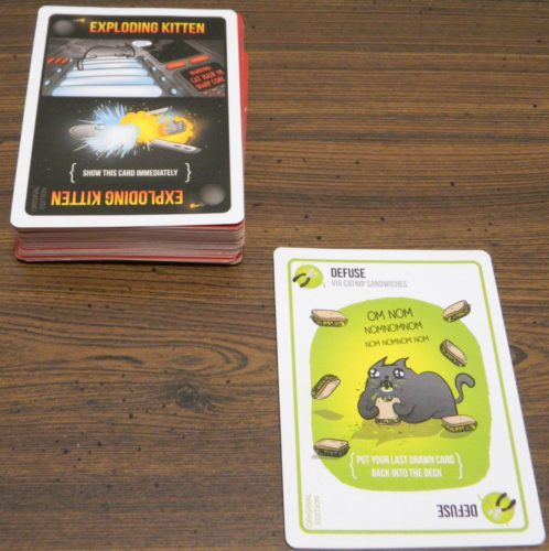 Defuse Example in Exploding Kittens
