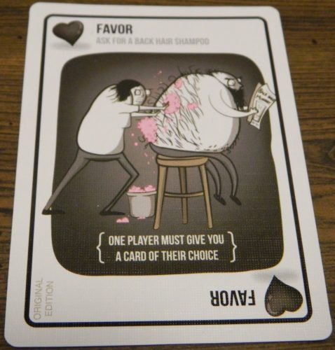 Favor Card in Exploding Kittens