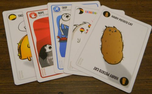 Five Different Cards in Exploding Kittens