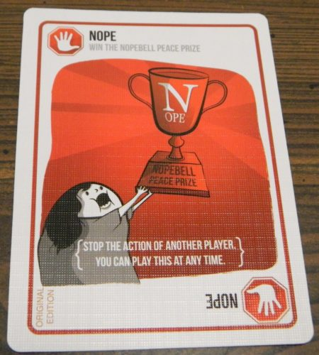 Nope Card in Exploding Kittens