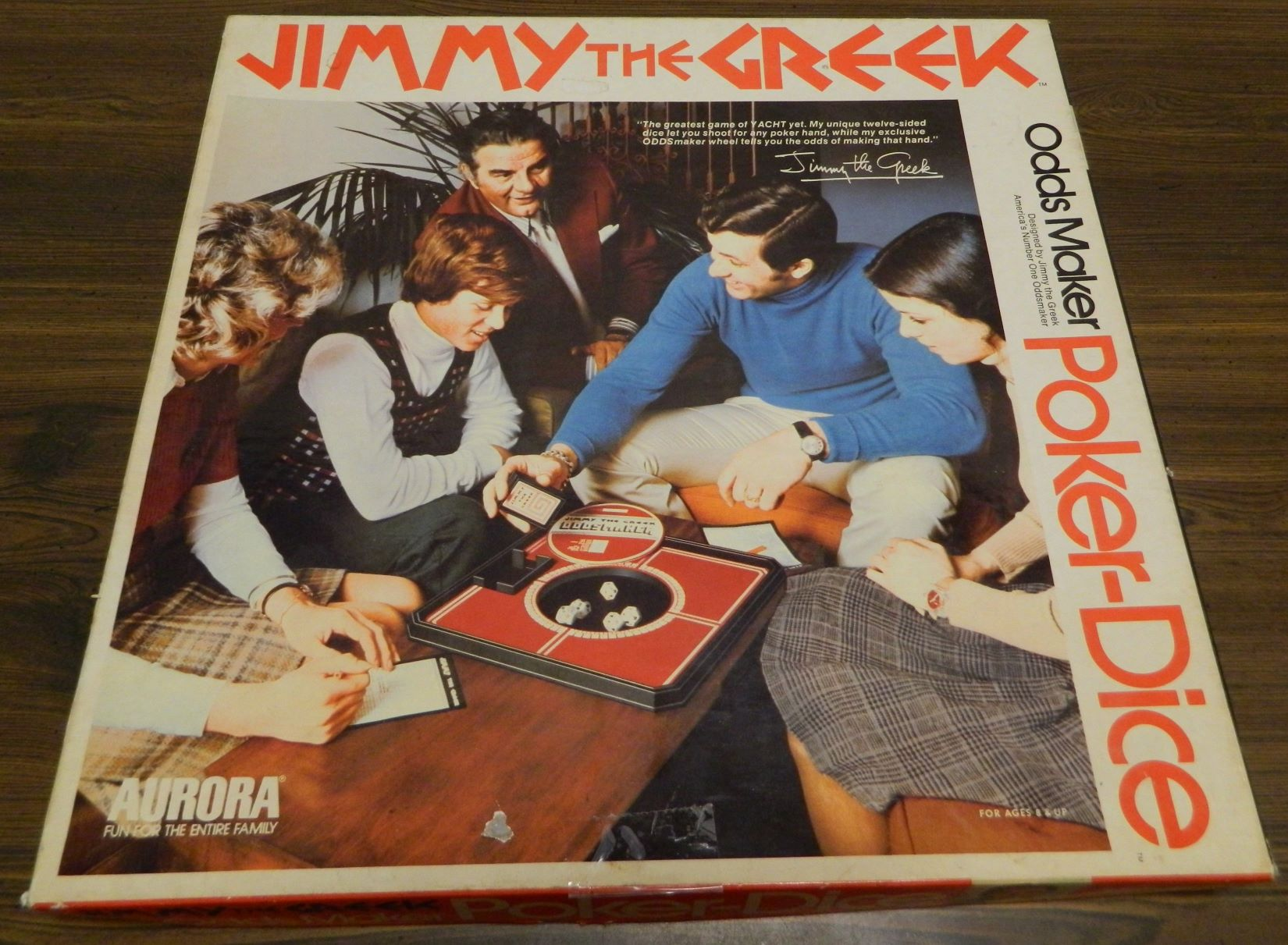 Box for Jimmy the Greek Oddsmaker Poker-Dice
