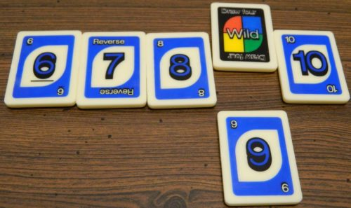 Wild Draw Four Example in UNO Rummy-Up
