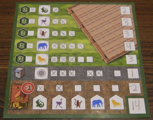 Scoring in Zooloretto Dice Game