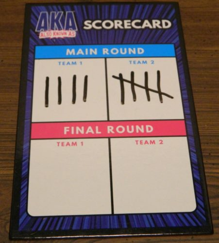 End of Main Round in AKA Also Known As