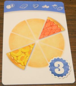 Apricot and Strawberry Flavor Recipe Card in Piece of Pie