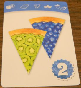 Blueberry and Kiwi Recipe Card in Piece of Pie