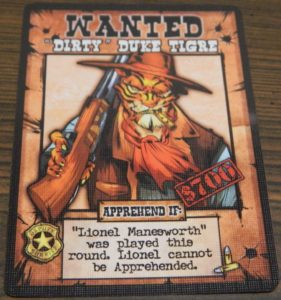 Dirty Duke Tigre Card from OutLawed!