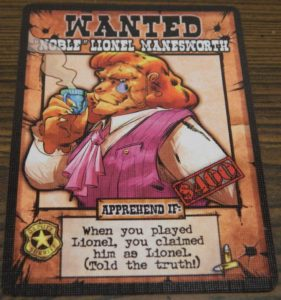 Noble Lionel Manesworth Card from OutLawed!