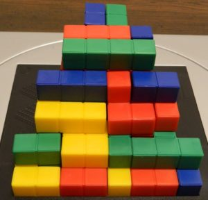 Three Players Steps Structure From Blokus 3D