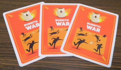 War Cards in Throw Throw Burrito
