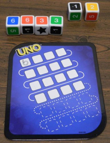 Dice Chain in UNO Dice Game Roll and Write