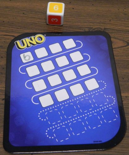 First Number in UNO Dice Game Roll and Write