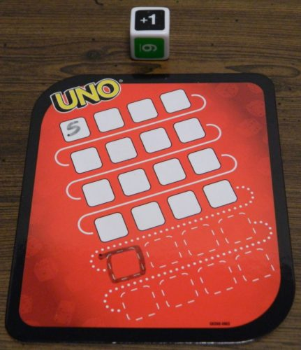 Penalty in UNO Dice Game Roll and Write