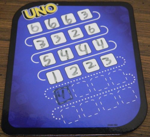 Winning UNO Dice Game Roll and Write