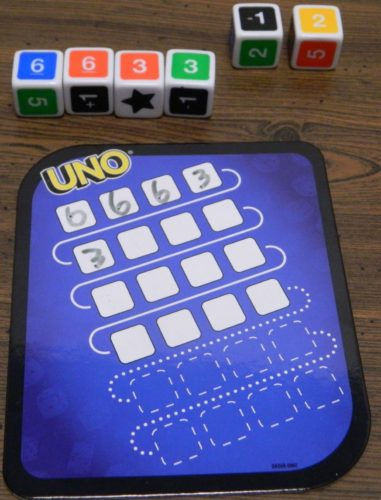 Write Numbers in UNO Dice Game Roll and Write