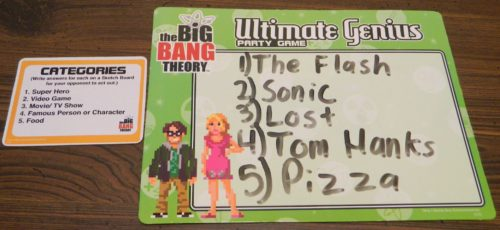 Celebrities Game in The Big Bang Theory Ultimate Genius Party Game