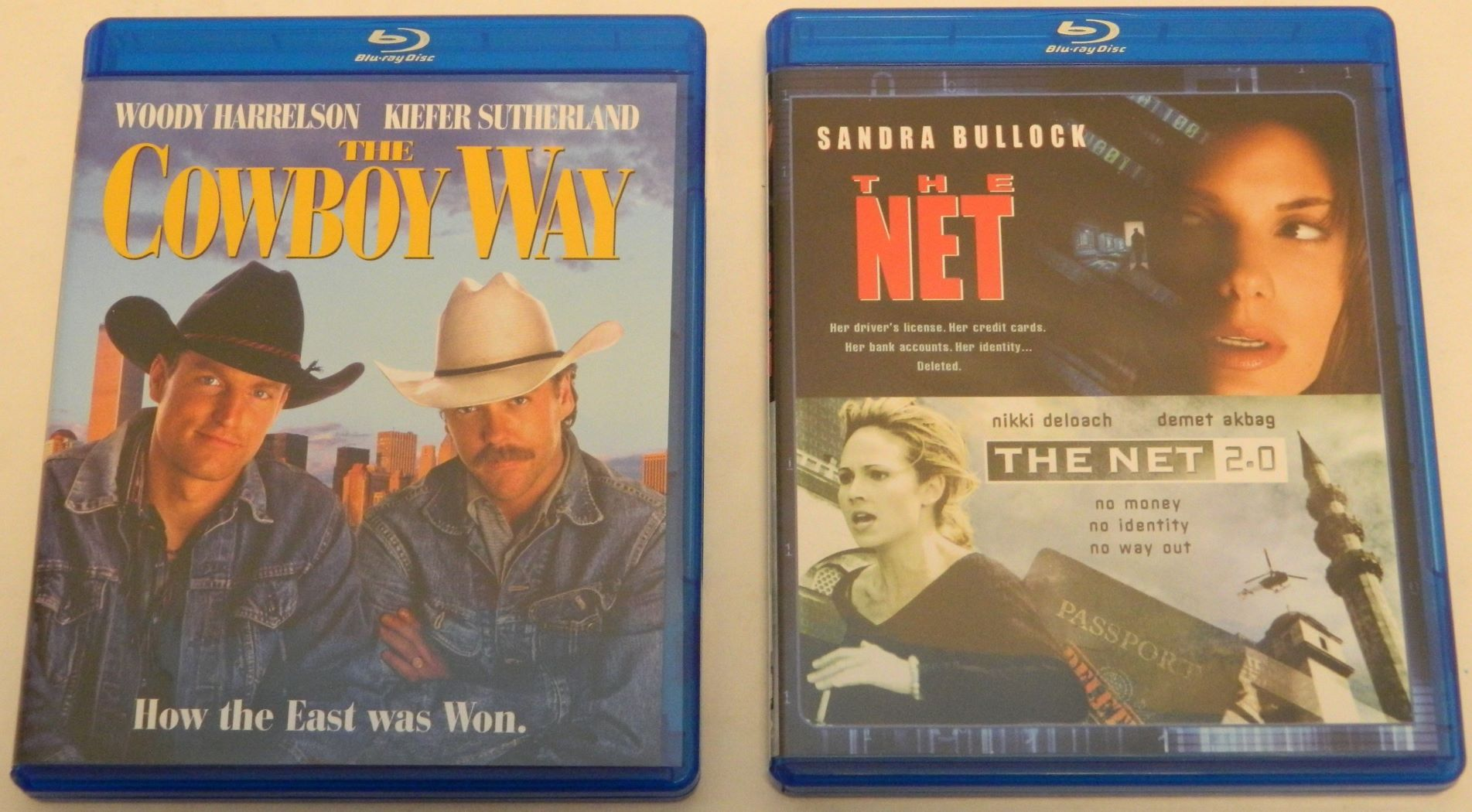 The Cowboy Way and The Net Blu-rays