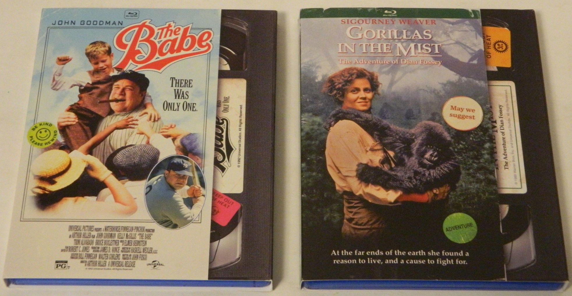 The Babe and Gorillas in the Mist Blu-rays