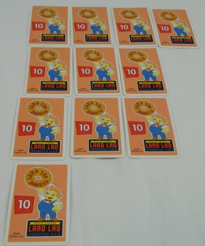 Toast or Most Cards in The Simpsons Slam Dunk